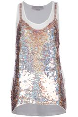 Stella McCartney Sequin Embellished Vest - Lyst