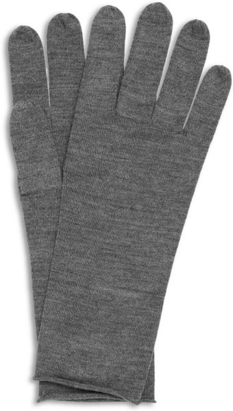 Acne Nils Fineknit Wool Gloves - Lyst