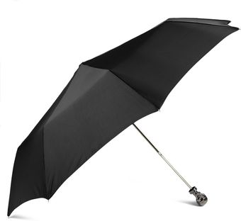 Alexander McQueen Skull Handle Collapsible Umbrella - Lyst