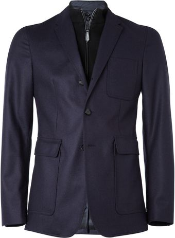 Burberry Wool Blazer with Detachable Front - Lyst