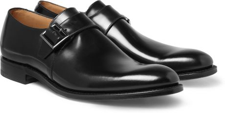 Church's Tokyo Leather Monk-Strap Shoes in Black for Men