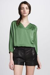 Diane Von Furstenberg Naples Leather Shorts - Lyst