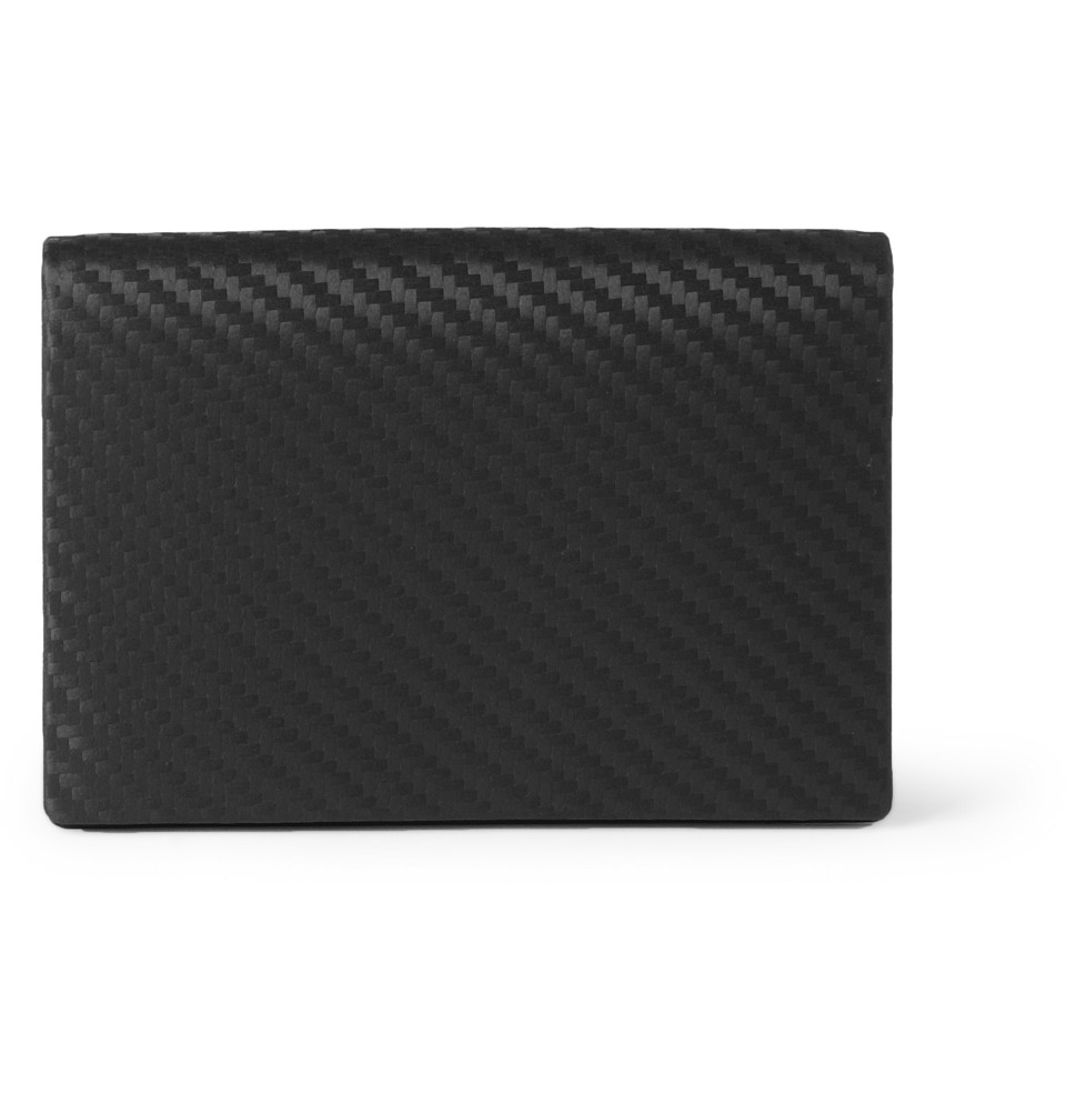 Dunhill Chassis Embossed Leather Business Card Holder in