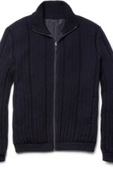 Jil Sander Reversible Knitted Wool Jacket - Lyst