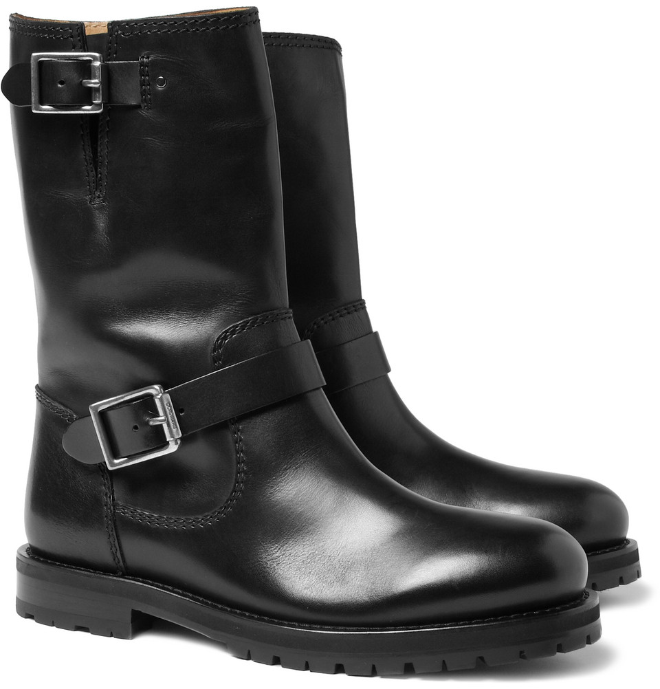 fc1aee81296 Lyst - Jimmy Choo York Leather Biker Boots in Black for Men