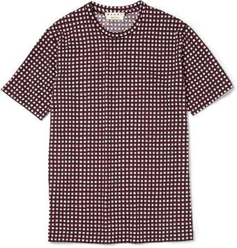 Marni Printed Cotton Jersey T-Shirt - Lyst