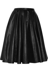 McQ by Alexander McQueen The Pleated Leather Skirt - Lyst