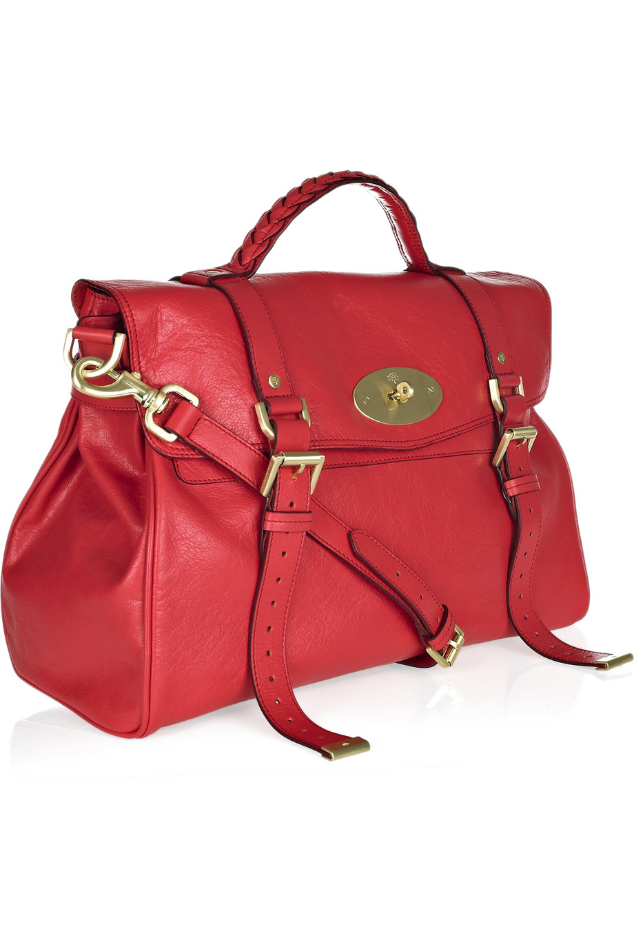 6aa94502c578 Mulberry Oversized Alexa Leather Bag in Red - Lyst