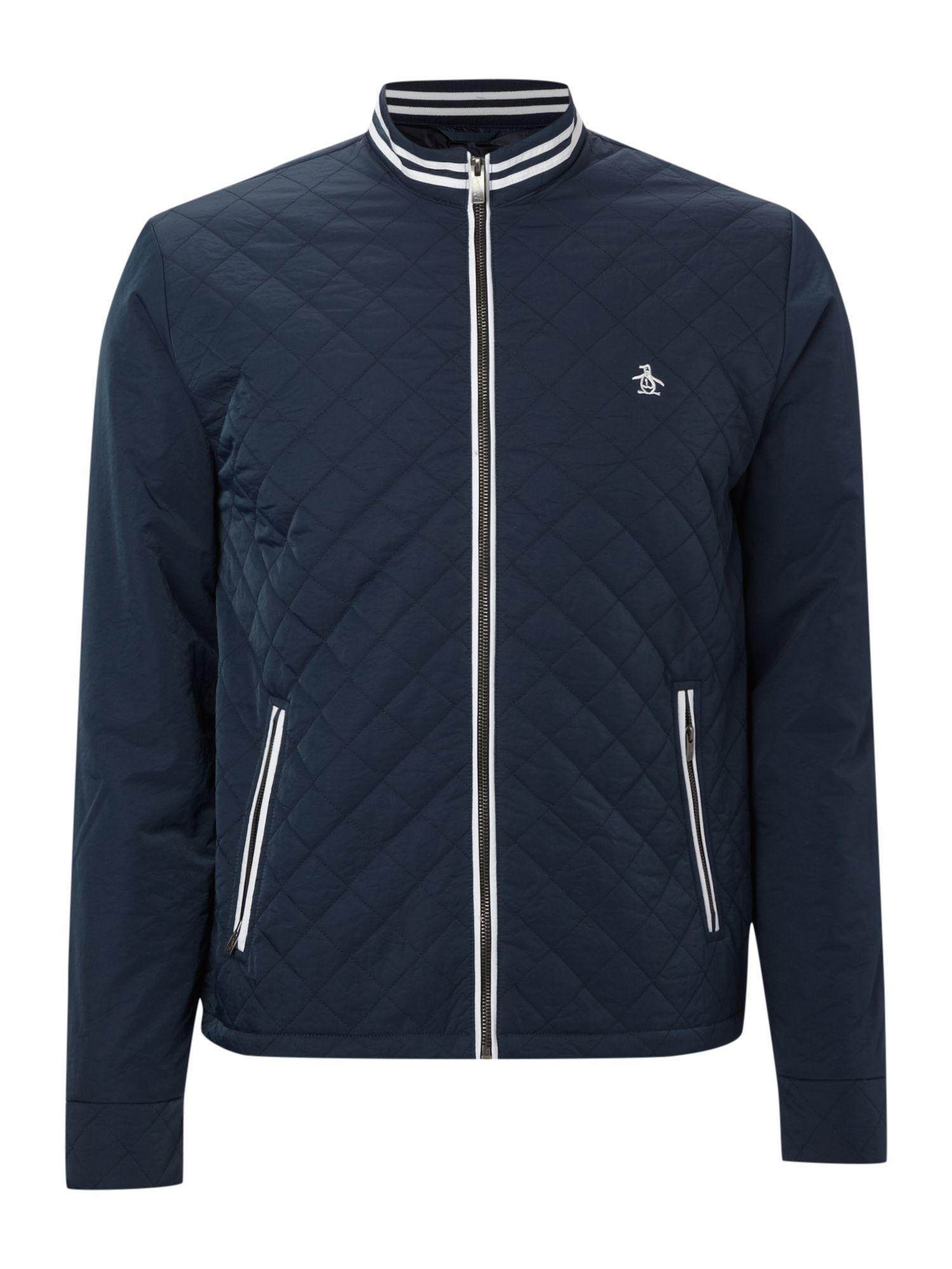 Original Penguin Quilted Ratner Jacket In Blue For Men Lyst