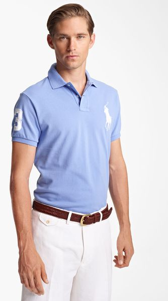 Polo Ralph Lauren Custom Fit Mesh Polo - Lyst