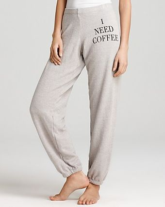 Wildfox Sweatpants I Need Coffee - Lyst