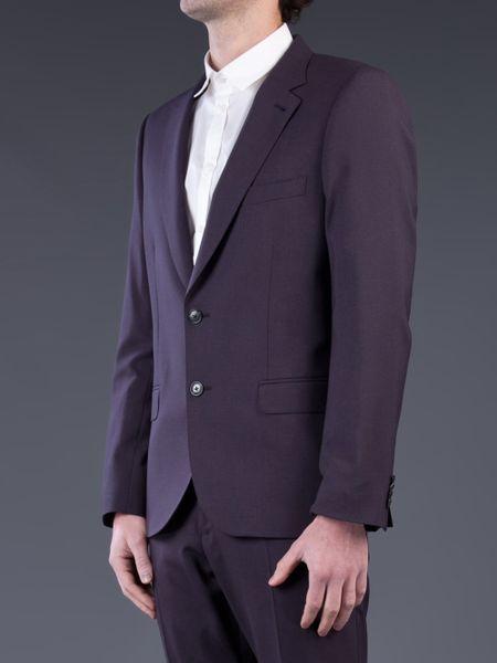 Paul Smith Wool Suit In Purple For Men Eggplant Lyst