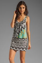 Plenty By Tracy Reese Tribal Trellis Fly Away Shift Dress - Lyst