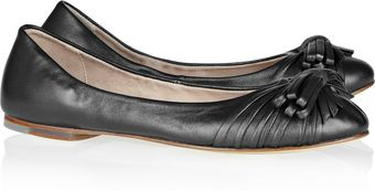 Bloch Bowembellished Leather Ballet Flats - Lyst