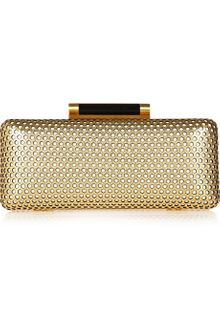 Diane Von Furstenberg Tonda Perforated Leather Box Clutch - Lyst