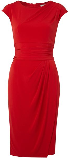Linea Cap Sleeve Soft Drape Dress - Lyst