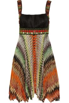 Missoni Marianna Embellished Crochetknit Dress - Lyst