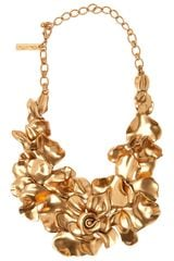 Oscar de la Renta Rose Petal Collar Necklace