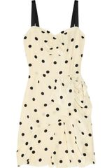 Marc By Marc Jacobs Hot Dot Ruffled Silk Dress - Lyst