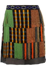 Missoni Genevieve Beaded Fringed Knitted Silk Skirt - Lyst