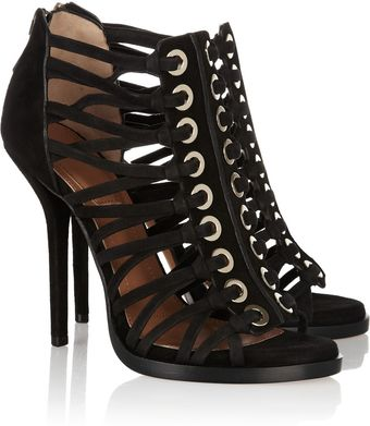 Givenchy Multistrap Suede Sandals - Lyst
