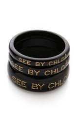 See By Chloé Logo Bangle Set