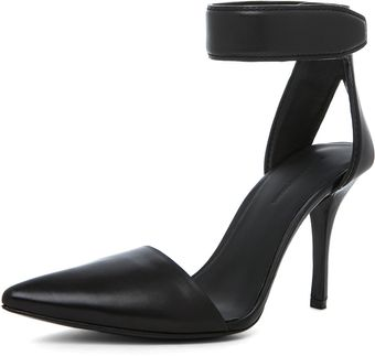 Alexander Wang Liya Leather Pump in Black - Lyst