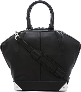 Alexander Wang Small Emilie Satchel with Bike Handle in Black - Lyst