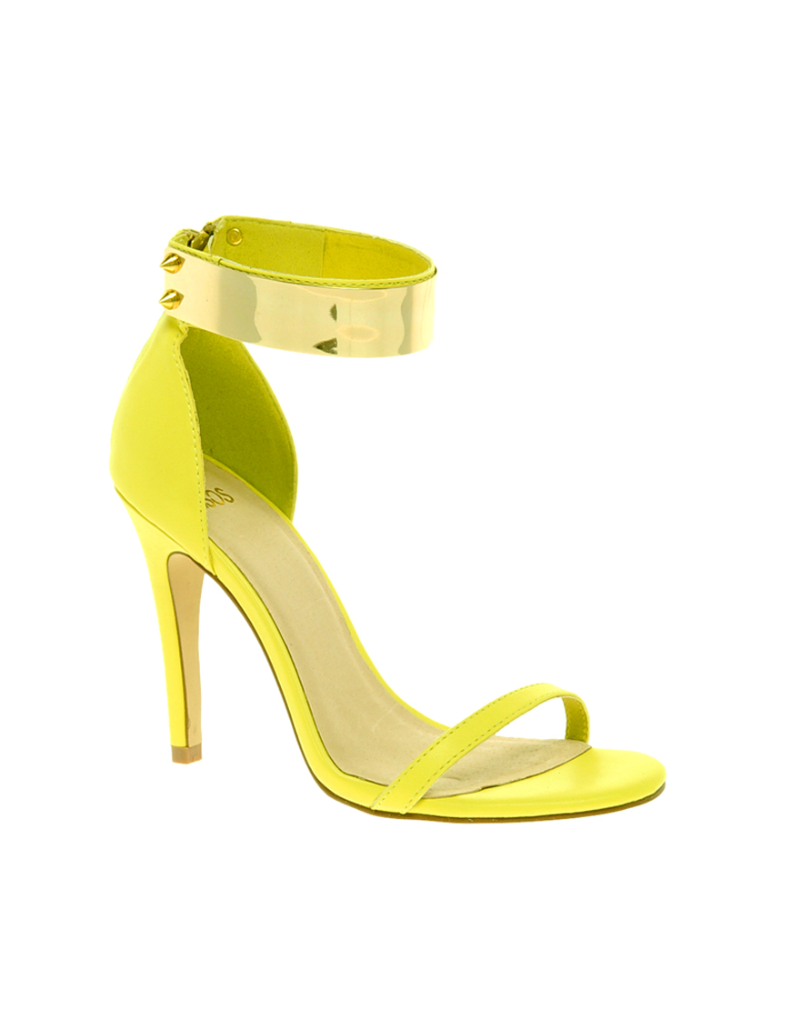 Designer Yellow Heels