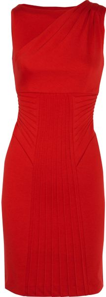 Catherine Malandrino Paneled Wovenjersey Dress - Lyst