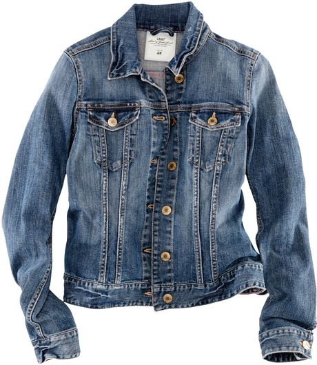 H&m Denim Jacket in Blue (denim) - Lyst