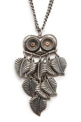 Mango Owl Pendant Necklace - Lyst