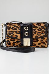 Milly Harper Leopardprint Calf Hair Shoulder Bag - Lyst