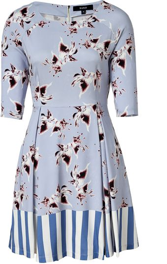 Suno Lilacmulti Printed Silk Dress - Lyst