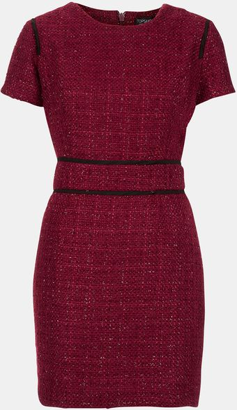 Topshop Bouclé Pencil Dress - Lyst