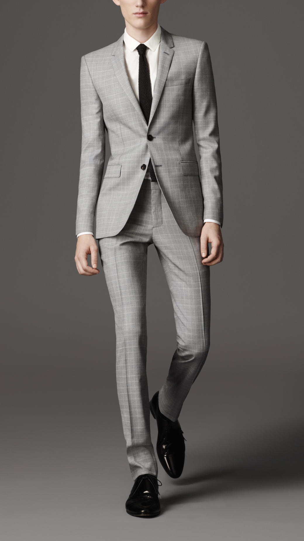 Burberry Slim Fit Virgin Wool Suit in Brown for Men | Lyst