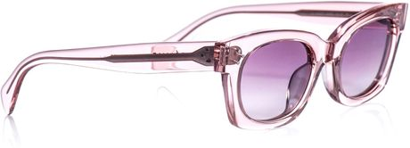 Celine Sophia Clear Frame Sunglasses in Pink