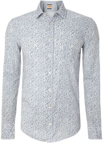 Hugo Boss Floral Print Long Sleeved Shirt - Lyst