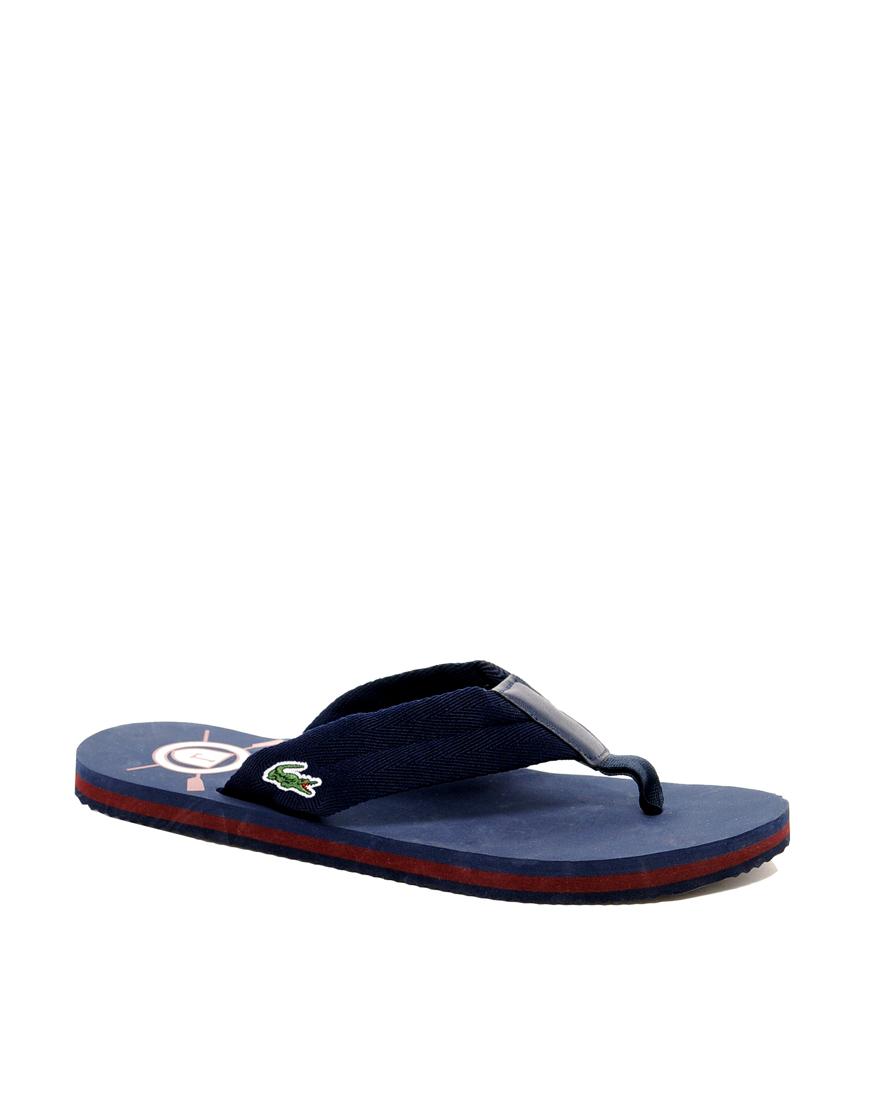 9d625a54cb238 Lyst - Lacoste Randle Flip Flops in Black for Men