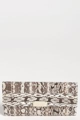 Jimmy Choo Reese Genuine Snakeskin Clutch - Lyst