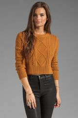 Torn By Ronny Kobo Boxy Cable Knit Sweater - Lyst