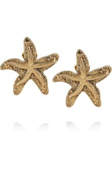 Yves Saint Laurent Goldplated Starfish Clip Earrings - Lyst