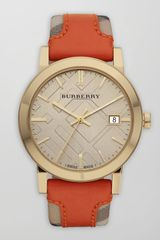 Burberry Checkstrap Watch - Lyst