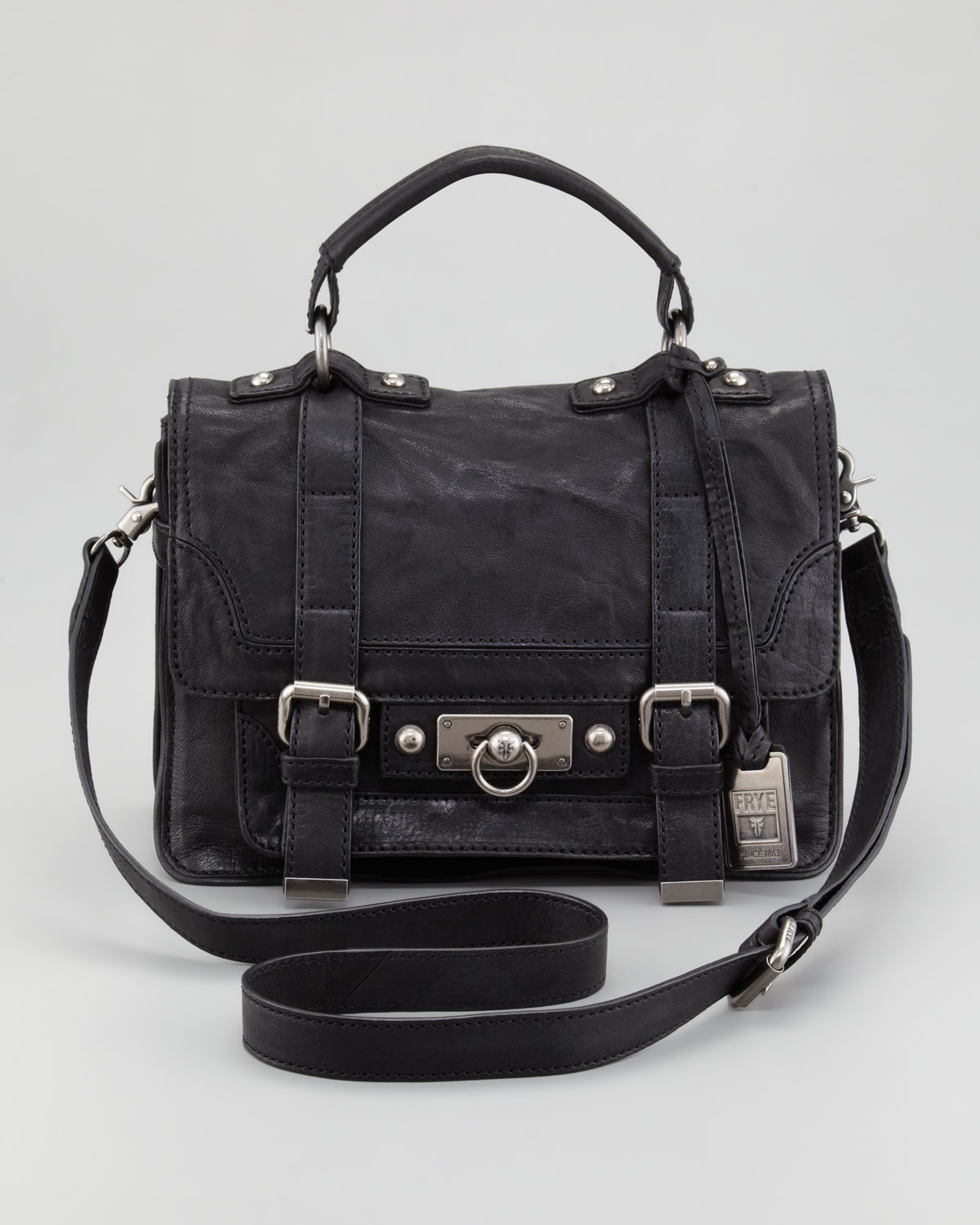 Frye Cameron Small Satchel Bag in Black | Lyst