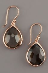 Ippolita Rose Teardrop Earrings Smoky Quartz - Lyst