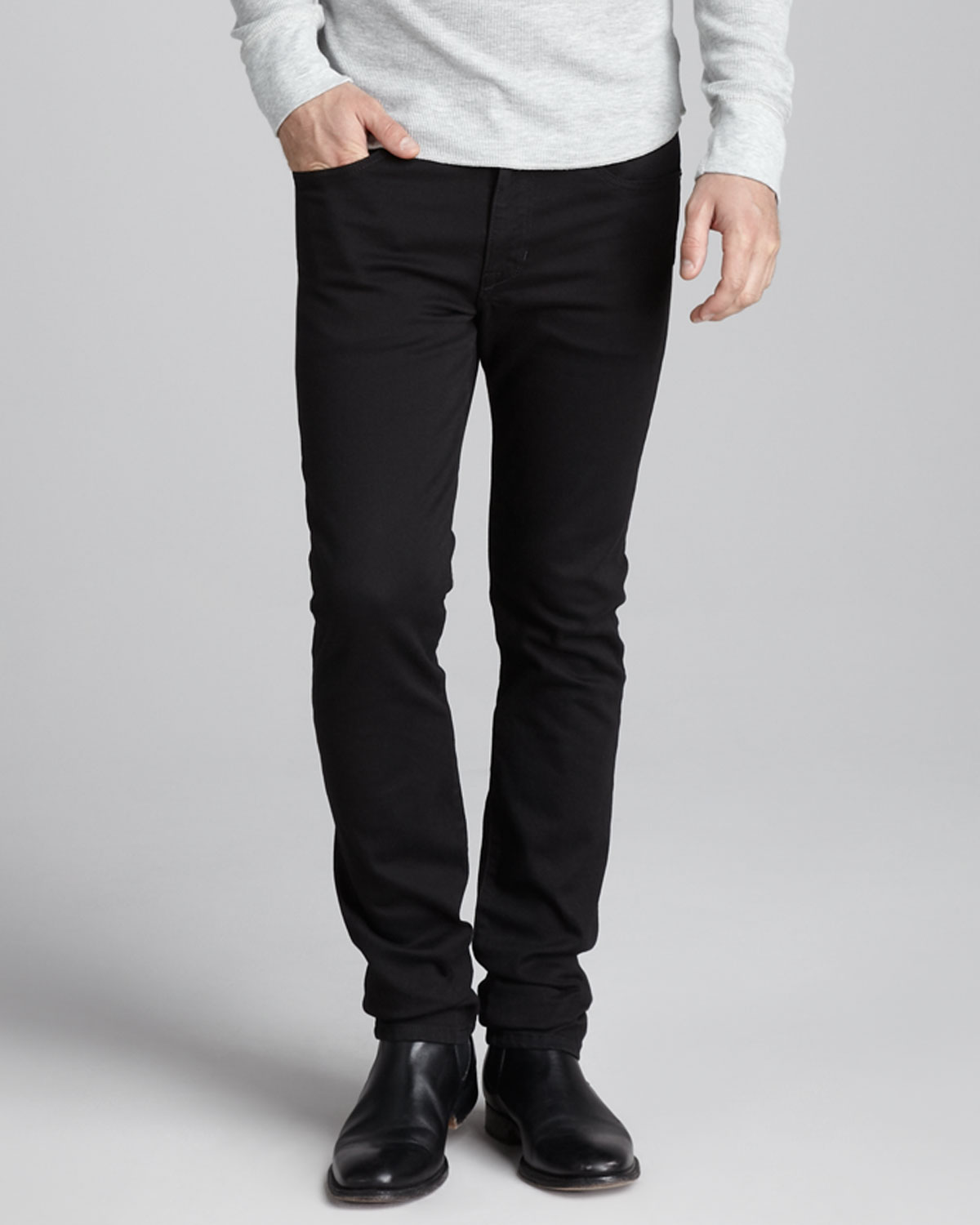Joe's jeans Super Slim Black Jeans in Black for Men | Lyst