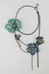 Lanvin Multistrand Flower Necklace - Lyst