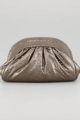 Lauren Merkin Vivi Snakeembossed Clutch Bag - Lyst