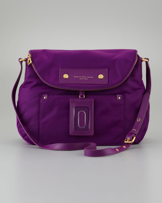 ef6bf0db5e Lyst - Marc By Marc Jacobs Preppy Nylon Sasha Crossbody Bag in Purple