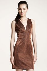 Opening Ceremony Metallic Sheath Dress - Lyst